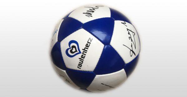 Signierter rautenherz-Ball