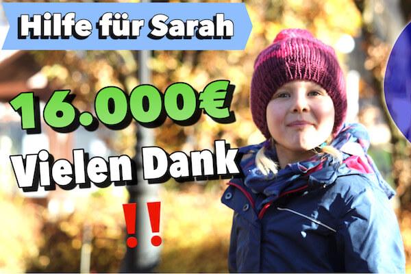 Über 16.000 Euro für Sarah