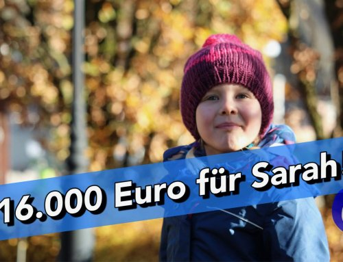 Über 16.000€ für Sarah!