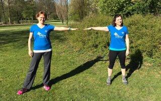 Liz und Sandra laufen fuer Sarah
